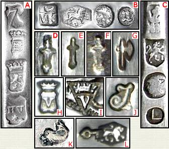 Dutch Hallmarks Encyclopedia Of Silver Marks Hallmarks