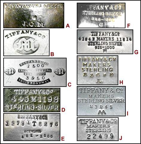tiffany hallmarks